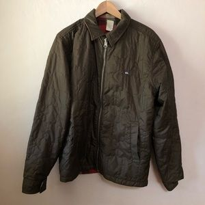 Quicksilver Men's Reversible Olive Green Jacket